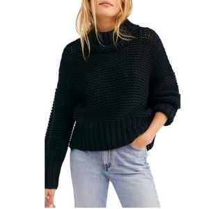 NWT! FP Free People My Only Sunshine Black Sweater